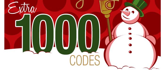 Extra 1000 Codes. QUICK QUICK QUICK!