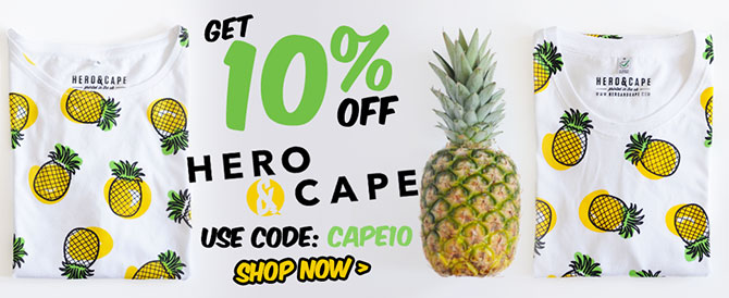 Get 10% off Hero & Cape. Use Code: CAPE10
