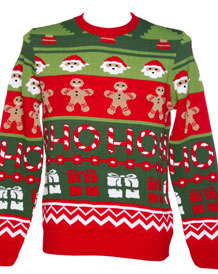 Unisex Retro Santa's Workshop Christmas Jumper from Cheesy Christmas Jumpers
