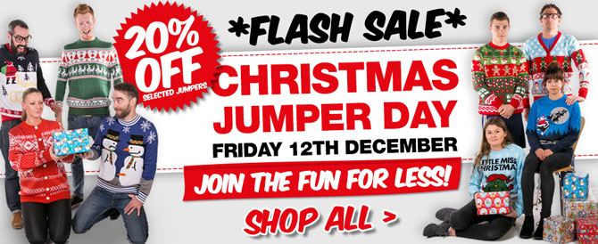 *FLASH SALE* 20% Off for Christmas Jumper Day!