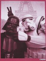 Men's Maroon Vader Stormtrooper Selfie Star Wars T-Shirt