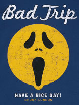 Men's Navy Have A Nice Day Bad Trip T-Shirt