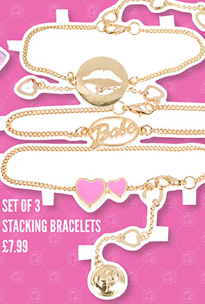 Barbie Set Of Three Stacking Bracelets - £7.99