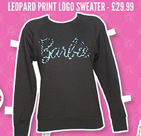 Leopard Print Logo Sweater - £29.99