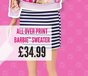 All Over Print Barbie Sweater - £34.99