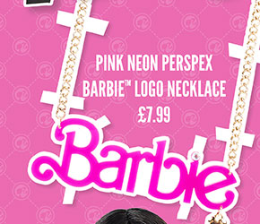 Pink Neon Perspex Barbie Logo Necklace - £7.99