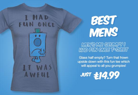 Men's Mr Grumpy I Had Fun Once T-Shirt from TruffleShuffle - £14.99