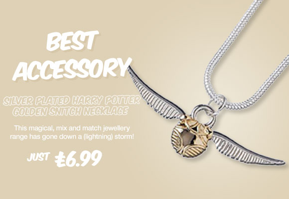 Silver Plated Harry Potter Golden Snitch Necklace from Disney Couture £6.99