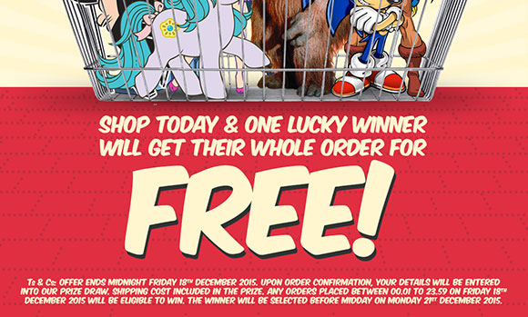 Shop today & one lucky winner will get their whole order for FREE!