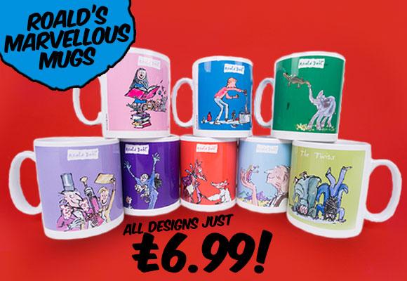 Roald Dahl Mugs - £6.99