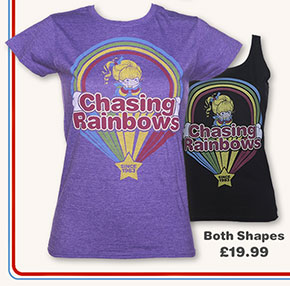 Ladies Rainbow Brite Chasing Rainbows Vest and T-Shirt from TruffleShuffle £19.99