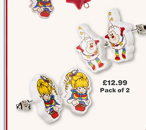 Rainbow Brite Set Of 2 Stud Earrings from TruffleShuffle £12.99