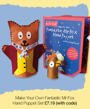 Roald Dahl Make Your Own Fantastic Mr Fox Hand Puppet Set