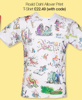 Unisex Roald Dahl Allover Print T-Shirt from TruffleShuffle
