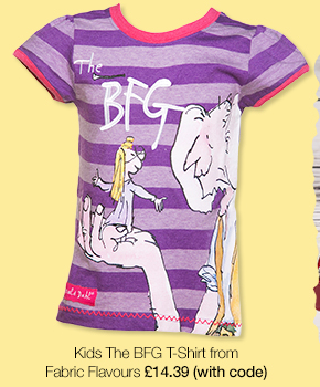 Kids Purple Marl The BFG Roald Dahl T-Shirt from Fabric Flavours