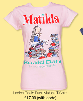 Ladies Roald Dahl Matilda T-Shirt from TruffleShuffle