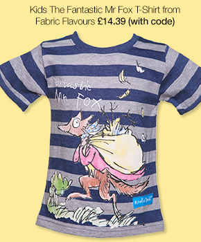 Kids Blue And Grey Marl The Fantastic Mr Fox Roald Dahl T-Shirt from Fabric Flavours