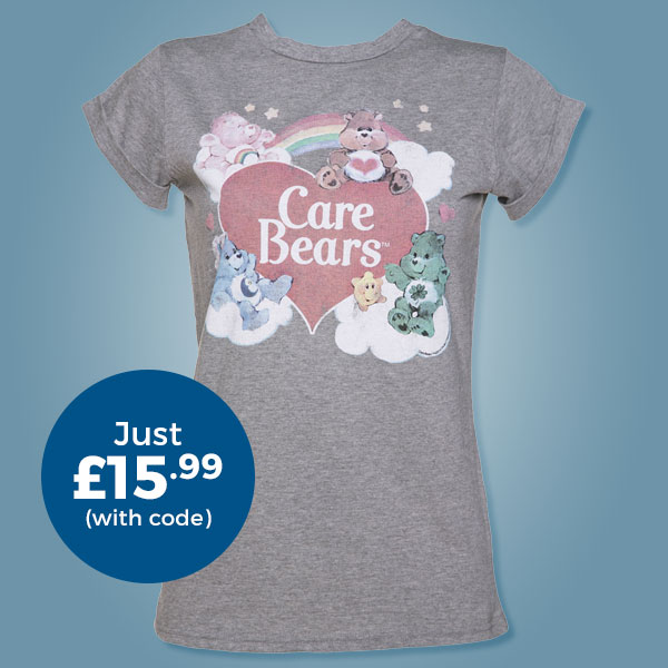 Ladies Vintage Care Bears Rolled Sleeve Boyfriend T-Shirt from TruffleShuffle - Just £15.99 with code
