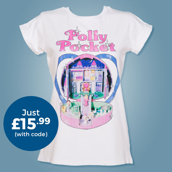 Ladies Vintage Polly Pocket Rolled Sleeve Boyfriend T-Shirt from TruffleShuffle - Just £15.99 with code