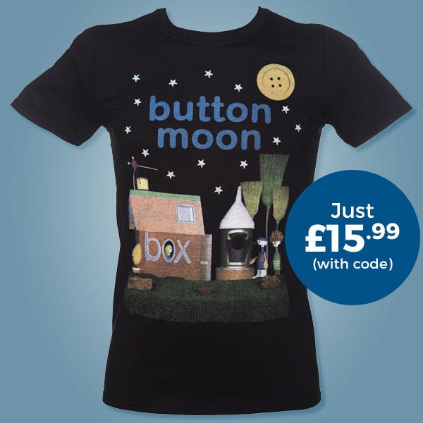 Men's Button Moon Classic T-Shirt from TruffleShuffle - Just £15.99 with code