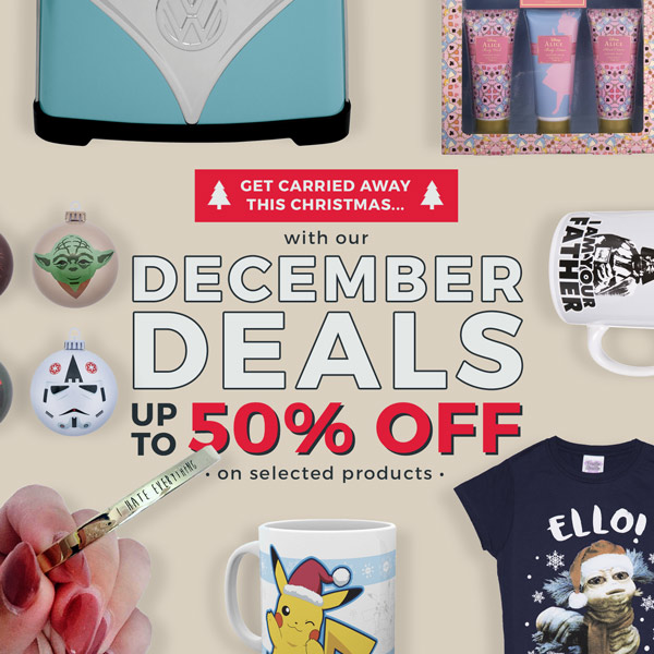 Get carried away this Christmas... with our DECEMBER DEALS. Up to 50% off on selected=