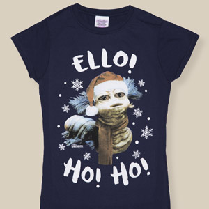 Women's Labyrinth Worm Ho Ho Ho Christmas T-Shirt