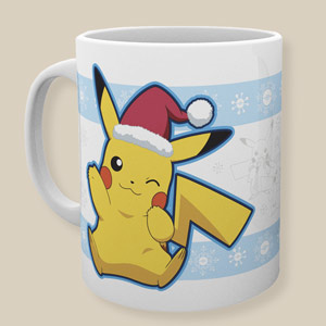 Pokemon Pikachu Santa Hat Christmas Mug
