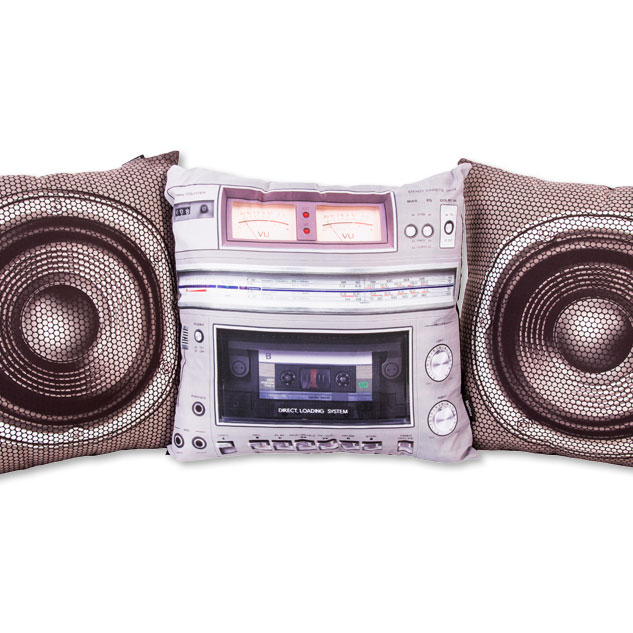 Set Of Three Boombox Cushions £59.99