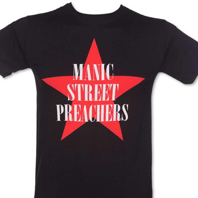 Men's Black Manic Street Preachers Red Star T-Shirt £17.99
