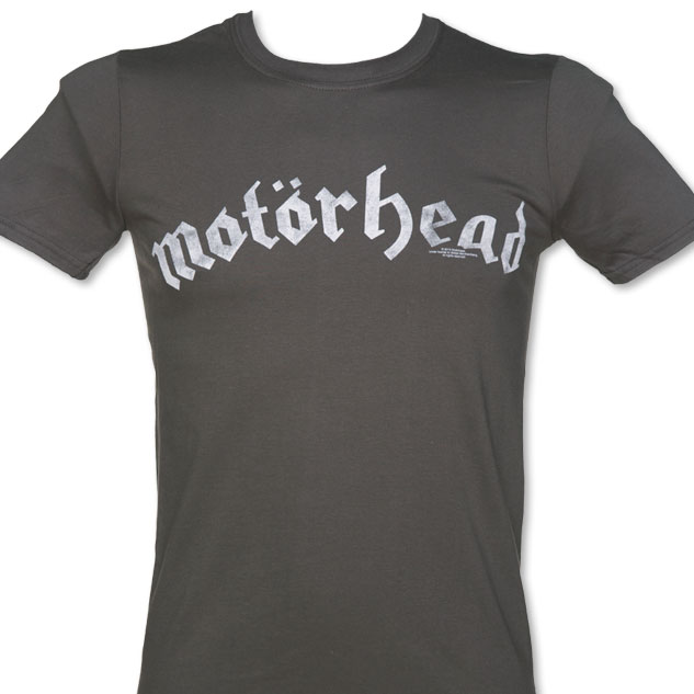 Men's Charcoal Marl Motorhead Distressed Logo T-Shirt £17.99