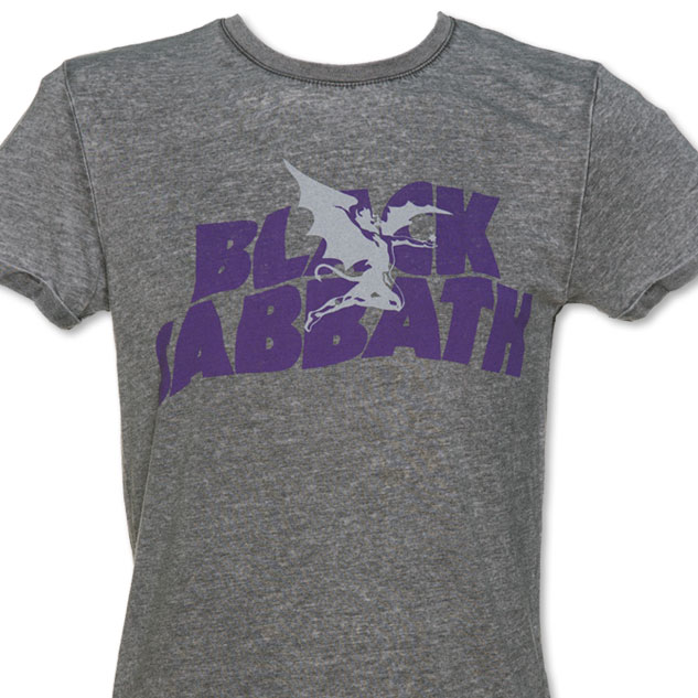 Men's Charcoal Burnout Black Sabbath Logo T-Shirt £19.99