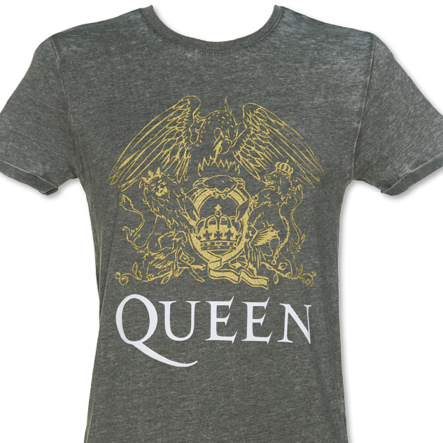 Men's Charcoal Burnout Queen Crest T-Shirt £19.99