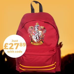 RED HARRY POTTER GRYFFINDOR BACKPACK - Just £27.89 with code