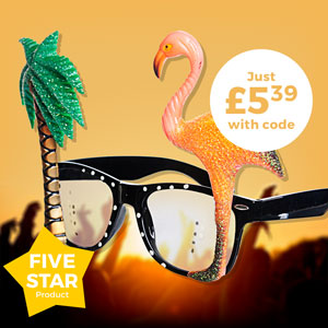 HAWAIIAN NOVELTY SUNGLASSES - Just £5.39 with code