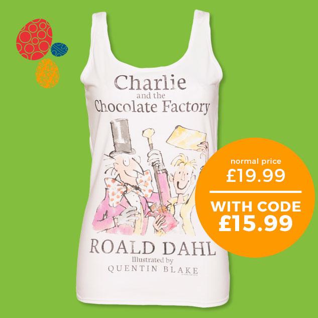 Ladies Roald Dahl Charlie And The Chocolate Factory Vest from TruffleShuffle - Normally £19.99 - With code £15.99