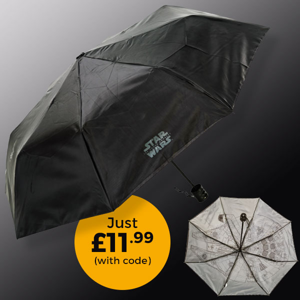 Star Wars VII The Force Awakens Millennium Falcon Umbrella £11.99 (with code)