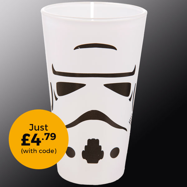 Star Wars Stormtrooper Pint Glass £4.79 (with code)