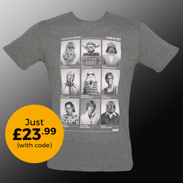 Men's Grey Marl Class Of 77 Star Wars T-Shirt from Chunk £23.99 (with code)