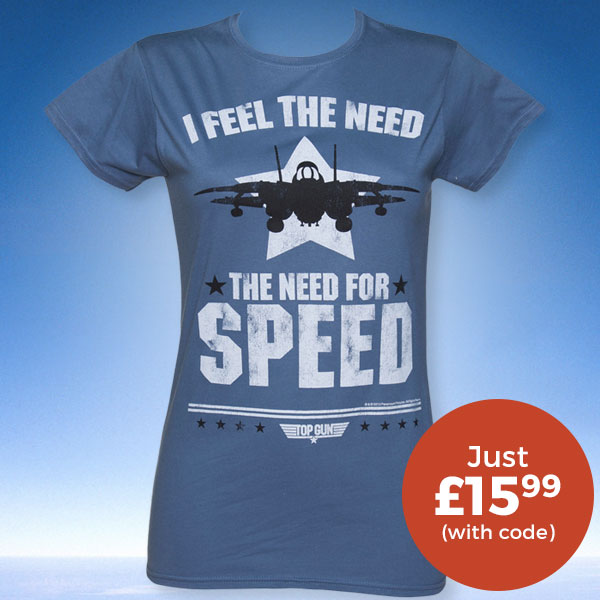 Ladies Top Gun Need For Speed T-Shirt £15.99 (WITH CODE)