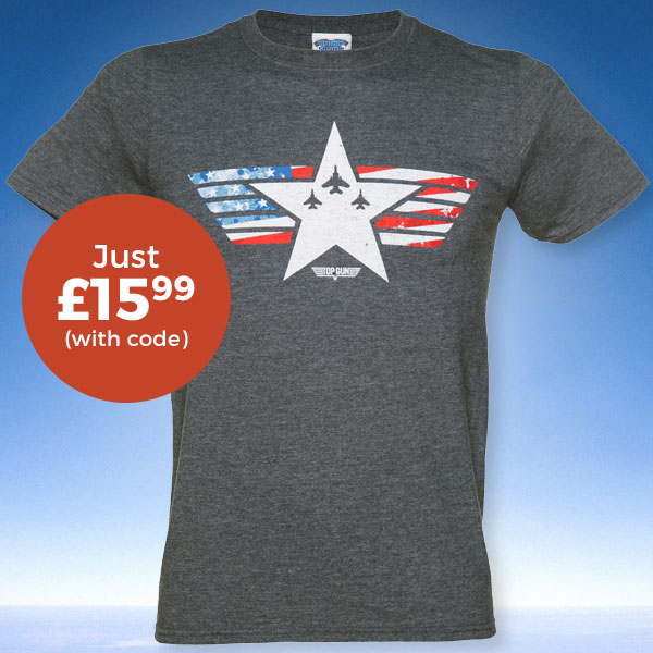Men's Top Gun Maverick Stars And Stripes T-Shirt from TruffleShuffle £15.99 (WITH CODE)