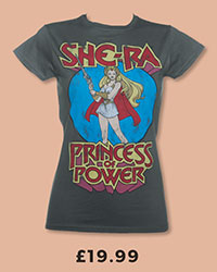 Ladies Charcoal She-Ra Princess Of Power T-Shirt from TruffleShuffle £19.99