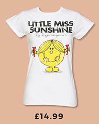 Ladies White Little Miss Sunshine T-Shirt from TruffleShuffle £14.99