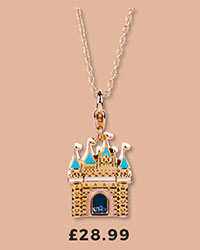 14kt Gold Plated Disney Princess Castle Charm Necklace from Disney Couture £28.99
