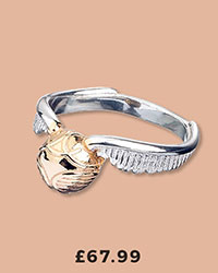 Sterling Silver Harry Potter Golden Snitch Ring £67.99