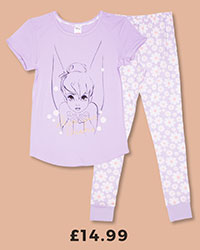 Ladies Disney Tinkerbell Share Your Dreams Pyjamas £14.99