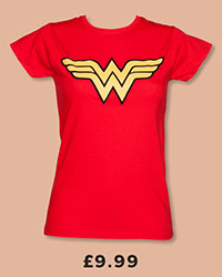 Ladies Red Wonder Woman Logo T-Shirt £9.99