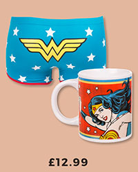 Ladies DC Comics Wonder Woman Mug And Hotpants Set £12.99