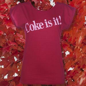 Women's Coke Is It! Rolled Sleeve Tunic T-Shirt
