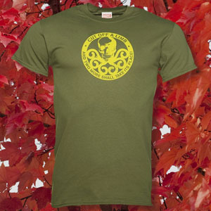 Men's Green Marvel Hydra Logo T-Shirt