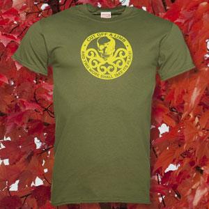 Men's Green Marvel Hydra Logo T-Shirt